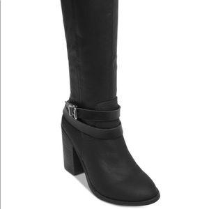 Worn once, Madden Girl 7.5 Women's Black Boots